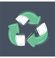 recycle icon on dark vector image