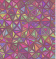 Retro triangle mosaic tile background vector image vector image