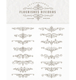 set flourishes dividers vector image vector image