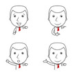 set of businessman lines cartoon with different ge vector image vector image