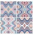 set seamless abstract wavy backgrounds vector image vector image