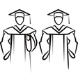 simple with a graduate vector image vector image