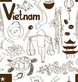 Sketch Vietnam seamless pattern vector image vector image