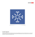 snow flake icon - blue photo frame vector image