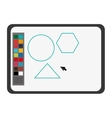Software draw colors drawing icon vector image