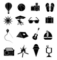 summer holiday icons set vector image vector image