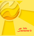 summer template banner vector image