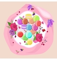 Sweet and colourful french macaroons macaron vector image