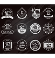 Tailor shop chalkboard labels icons set vector image vector image