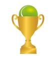 tennis ball trophy icon vector image
