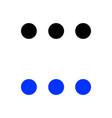 three dots icon vector image vector image