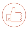 Thumb up line icon vector image vector image