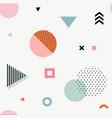 trendy geometric memphis seamless pattern vector image vector image