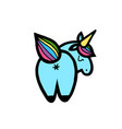 unicorns isolated on white vector image vector image