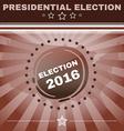 Usa Presidential Election 2016 Banner vector image vector image
