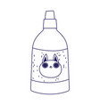 veterinary bottle care medicine for cat pets vector image