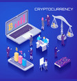 virtual currency isometric background vector image vector image