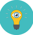 Vision concept Flat design Icon in turquoise vector image vector image