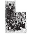wailing place of the jews at jerusalem vintage vector image vector image