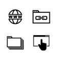 web browsing simple related icons vector image vector image
