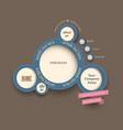 web design bubbles vintage style vector image vector image