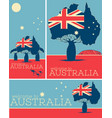 welcome to australia vintage poster set vector image vector image