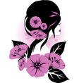 Woman with flowers vector | Price: 1 Credit (USD $1)