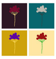 wreath of flowers in watercolor style with white vector image vector image