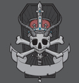 Skull king with crown vector image