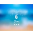 sea background vector image