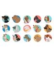Set of Dog Round Icons vector image