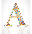 Abstract letter A vector image vector image