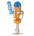 architect screwdriver character cartoon style vector image vector image