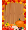 autumn background with vegetables vector image vector image