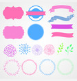 banner frame ribbon tag pattern label design vector image vector image