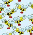 bee pattern vector image vector image