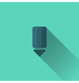 Blue pencil icon Flat design vector image