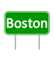 Boston green road sign vector image vector image