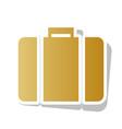 briefcase sign golden vector image vector image