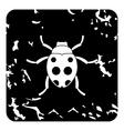 Bug icon grunge style