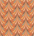 Christmas seamless pattern Firs trees on orange