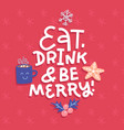 christmas typographic design greeting card vector image vector image