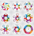 collection infographics design elements vector image vector image