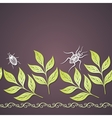 Colored Floral Background vector image vector image