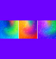colorful bright geometric backgrounds set vector image