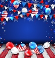 Colorful Template for American Holidays vector image vector image
