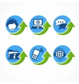 Customer support icons with vector image