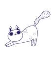 cute cat cartoon feline character pets lineal vector image vector image
