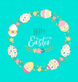 cute easter spring greeting card with eggs vector image vector image