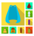 design material and clothing symbol set vector image